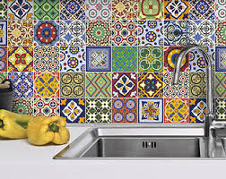tile decals for kitchen backsplash talavera tile stickers kitchen backsplash tiles kitchen