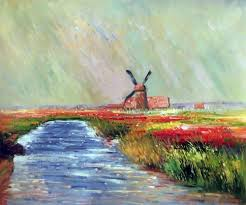 tulip field in holland claude monet reproduction oil paintings