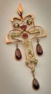 vintage garnet jewelry art nouveau russian garnet antique