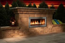 back yard kits fireplaces fire pits building block