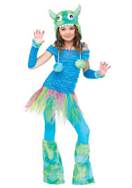 Monster Halloween by Girls Blue Beastie Monster Costume