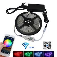 led strip lights wifi controller jiawen 5m waterproof ip65 rgbw rgbww led strip light 5050 smd
