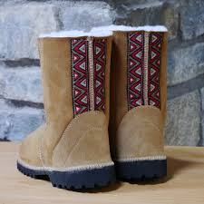 womens ugg style boots uk sheepskin boots in spice with embroidered braid ugg style boots