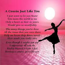 personalised coaster cousin poem ballerina design free gift