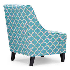 baxton studio lotus contemporary fabric armchair blue patterned
