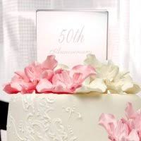 50th wedding anniversary cake toppers 50th wedding anniversary cake topper idea