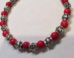 red bead bracelet images Red beaded bracelet etsy jpg