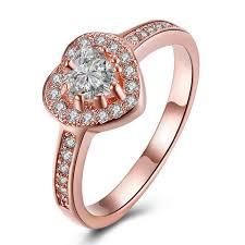 promise rings com images Titanium rose gold heart cut white sapphire promise rings jpg