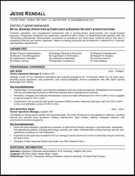 Resume Format Pdf For Banking Jobs by Resume Resume For A Bank