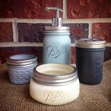 Mason Jar Bathroom Storage by Sale Bathroom Accessories Rust Resistant Mason Jar Bathroom