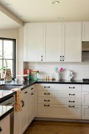 kitchen cabinet knobs black and white caitlin wilson home tour black kitchen countertops white