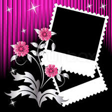 Photo Album With Black Pages Page Layout Photo Album With Flowers Stock Vector Colourbox