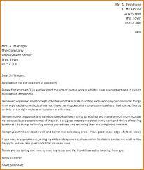 cover letter for post office job format