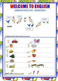 great demonstrative pronoun worksheets from eslprintables com