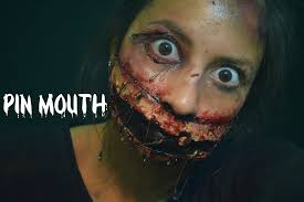 liquid latex spirit halloween pin mouth halloween makeup youtube