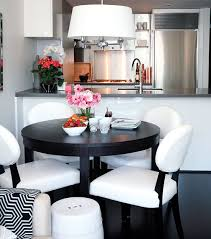 small kitchen dining table ideas small space interior chic condo dining area black furniture