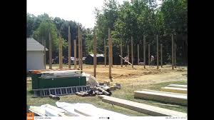 Setting Pole Barn Posts Pole Barn Build 2 Post Hole Drilling And Pole Setting Time Lapse