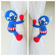 Where To Buy Curtain Tie Backs 1 Spiderman Crochet Curtain Tie Back Handmade Spiderman Crochet