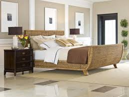 Seagrass Bedroom Furniture by Bedroom Grey Wood And Natural Rattan Wicker Bedroom Furniture For