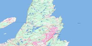 Map Of Newfoundland Canada by St John U0027s Nf Free Topo Map Online 001n10 At 1 50 000
