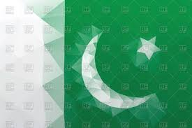 Pakistans Flag Flag Of Pakistan Polygonal Style Pattern Royalty Free Vector
