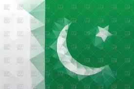 Pakistane Flag Flag Of Pakistan Polygonal Style Pattern Royalty Free Vector