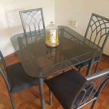 Glass Dinner Table Glass Dinner Table With 4 Chairs East London Gumtree