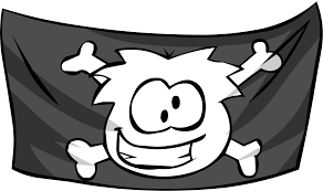 Picture Of A Pirate Flag Jolly Roger Flag Club Penguin Wiki Fandom Powered By Wikia