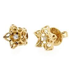 earrings for sale mini tria frame diamond gold stud earrings for sale at 1stdibs