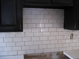 Tile Borders For Kitchen Backsplash by White Subway Tile Backsplash Minimalist Extraordinary Interior