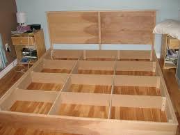 Building A Platform Bed With Drawers by Bed Frames Platform Storage Bed Plans Do Yourself Platform Bed
