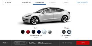 tesla is working on customer facing model 3 design studio as it