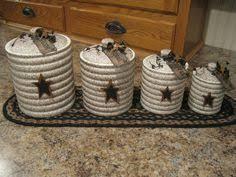 primitive kitchen canisters 3 primitive canister set by kraftyjars on etsy rustic charm
