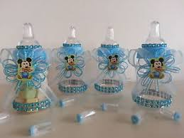 baby shower bottle favors 12 baby mickey mouse fillable bottles baby shower favors prizes