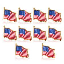 United States American Flag 10pcs American Flag Lapel Pin United States Usa Hat Tie Tack Badge