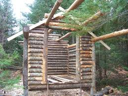 cabin plans small it is quicker to build this way than with the saddle notch or the