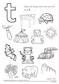 imagination alphabet colouring page t