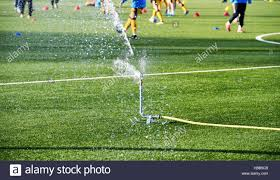 astroturf watering the 3g artificial astro turf pitch at sutton united