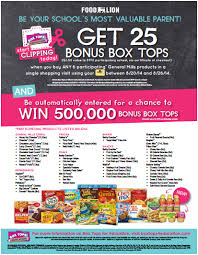 it u0027s time for bonus box tops with food lion and box tops for