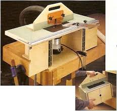 this compact router table has a large top with wings that fold