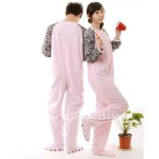 fleece pajamas sleepsuit onesie footed pyjamas unisex pink