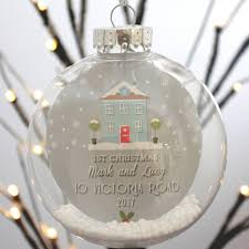 personalised home christmas bauble by paper company