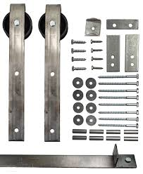 Bi Parting Barn Door Hardware by Sliding Barn Door Hardware Kit With 9 Ft Track Included Made In