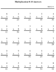 bluebonkers multiplication practice sheets 1 digit number p11