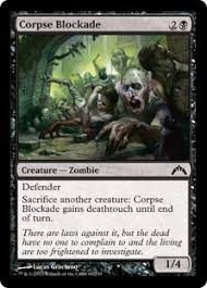blue black zombies magic the gathering