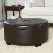 Square Brown Leather Ottoman Leather Ottoman Brown Leather Ottoman Square Sensuuri Info