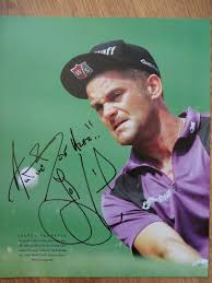 10x13 photo albums jesper parnevik autographed 10x13 golf book photo inscribed