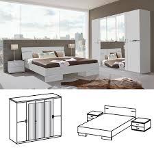 Schlafzimmer Komplett Mit Bett 140x200 Wimex Schlafzimmer Set Anna Bett 140x200 Mit 5trg Kleiderschrank