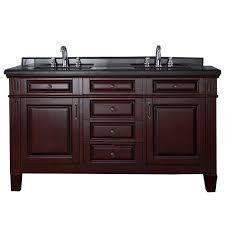 Two Sink Vanity 50 58 In Double Sink Bathroom Vanities Bath The Home Depot