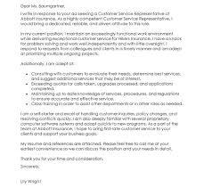 customer care representative cover letter customer service resume